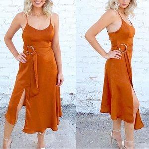 Dresses & Skirts - Orange Silk Dress